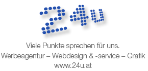Werbeagentur – Webdesign & -service – Grafik www.24u.at
